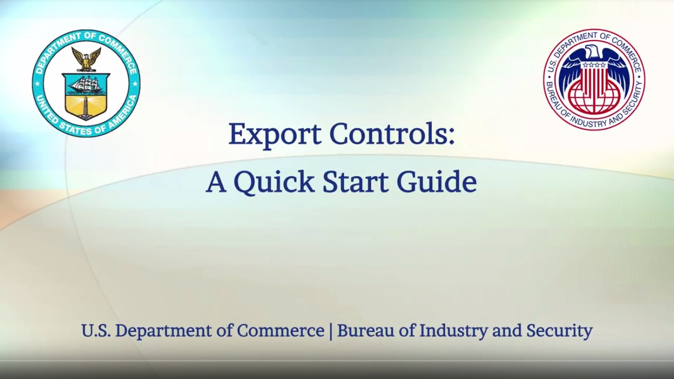 Export Controls A Quick Start Guide