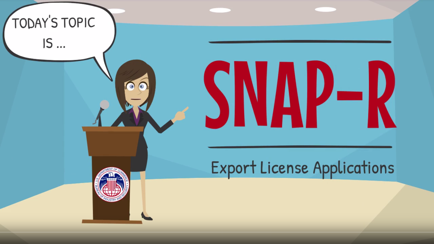 SNAP R Applying for and Export License